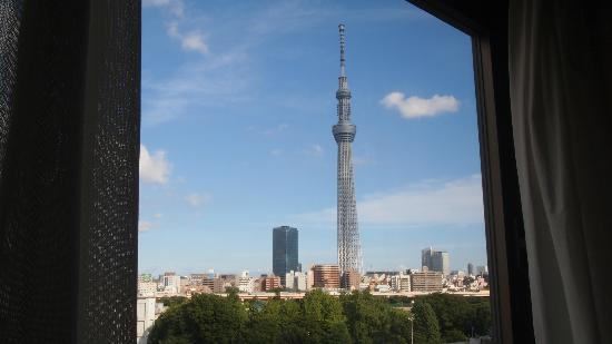 Smile Hotel Asakusa: Sky tree view from room window