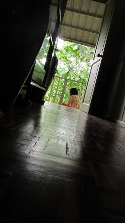 The Kebun: Quiet moment in the morning at the back verendah reading
