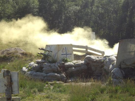 Holmbush Paintball: Smoke screen cover