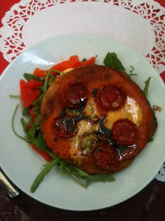 The Supper Club: Cherry Tomato Tartlet with Yorkshire Blue & Balsamic