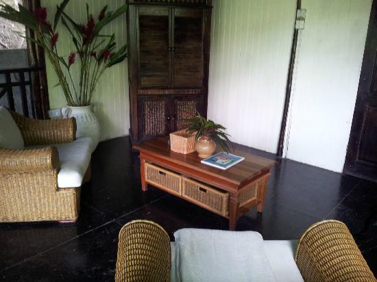 Fond Doux Plantation & Resort: living room area tree house