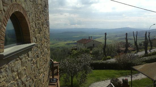 Chianni, Italija: il panorama...
