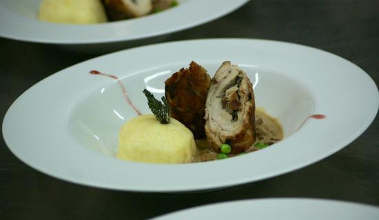 The Capaldi : poulet farci aux légumes
