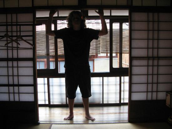 Inn Kawashima: Looking out of room toward innwer courtyard
