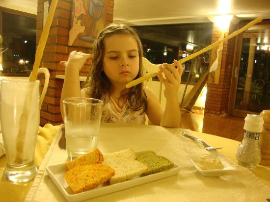 De La Fonte: Comienzo de cena en el restaurant La Fonte, Iguazú