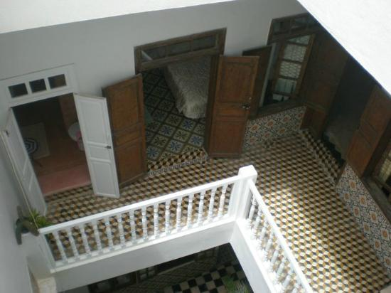 Riad de la Mer : view down to the apartment below
