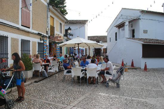 Guadalest Monastery: The hilltop cafe terraces