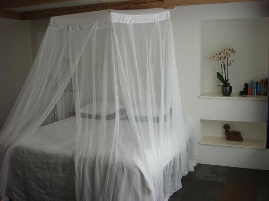 Bees B&B: Very Comfy Bed w/Mosquito Net (no mosquitos though)
