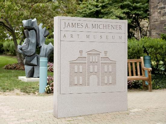 James A. Michener Art Museum: Michener Art Museum's Sign on Pine Street