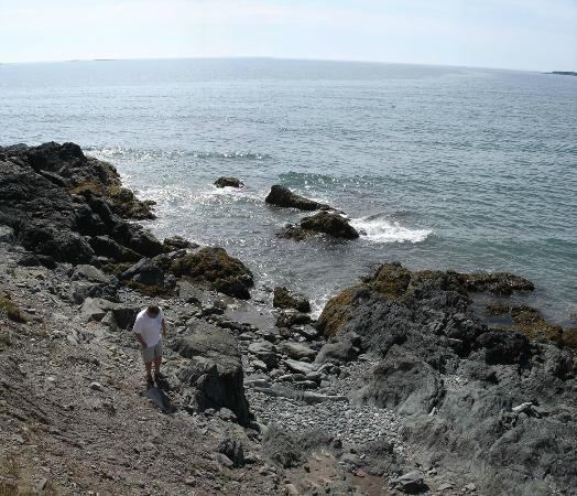 Lower L'Ardoise, Canadá: Panoramic view of private beach