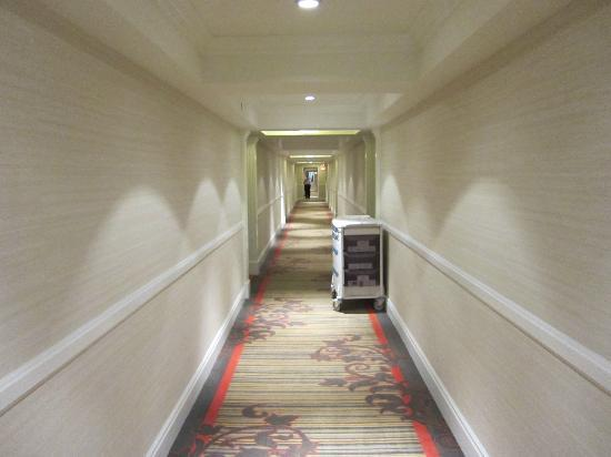 Le Parc Suite Hotel: Incredible hallway, like something out of the Titanic movie :)