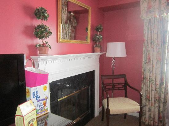 """The Roslyn Hotel: the """"living area"""" of our bridal suite- there's also a separate  bedroom"""