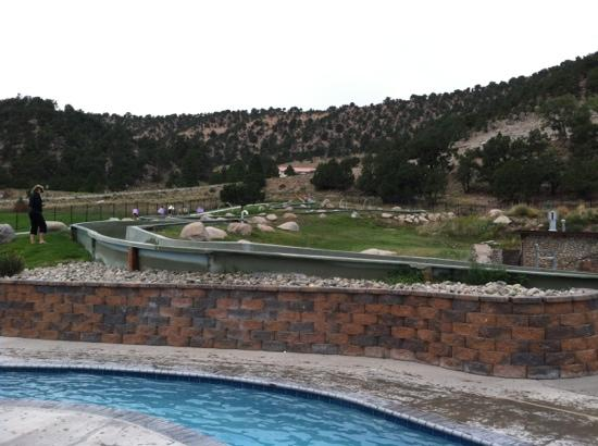 Mount Princeton Hot Springs Resort: view of mountains with waterslide