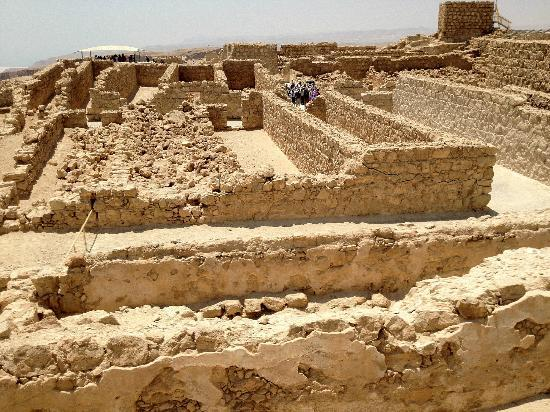 Masada National Park: The storerooms - some reconstructed, some still in rubble.