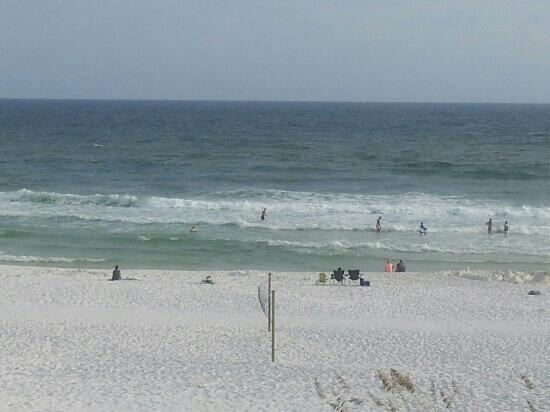 Best Western Ft. Walton Beachfront: The view from our 3rd floor balcony.