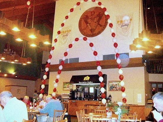 YMCA Trout Lodge: Valentine's weekend at the Lodge in the dining area