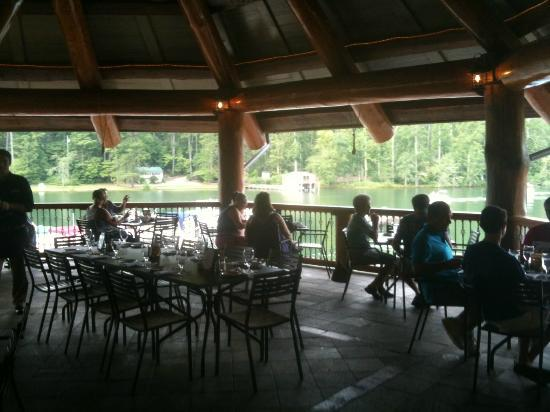La Prade's On Lake Burton: View from The Chophouse's outdoor seating area