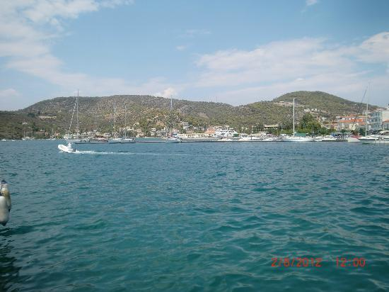 New Aegli Resort Hotel: View from Poros town