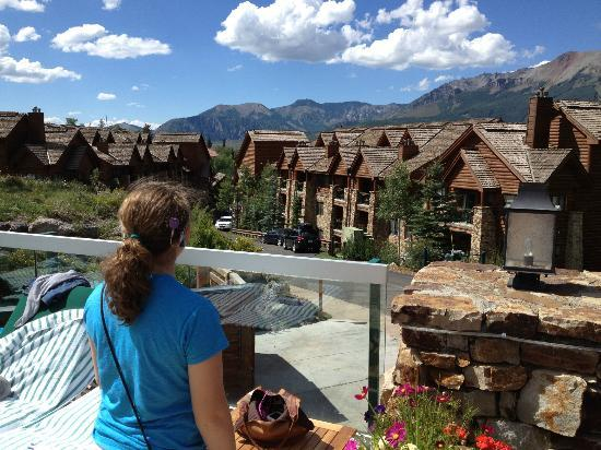 Mountain Lodge Telluride: View from pool area.