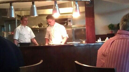 Visun Royal Yacht Hotel: chefs finishing off the starters