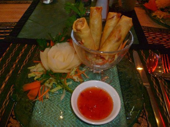 Royal Siam Restaurant: Duck Spring rolls - delicious