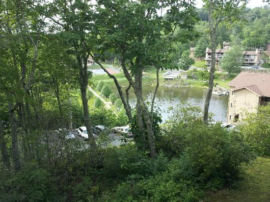 Blue Ridge Village: View of lake from deck