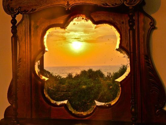 Aditya: Sunset reflected in our balcony mirror