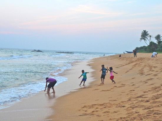 Aditya: Soccer on the beach with the locals