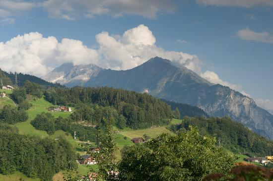 Pension Chalet Berkana: view from the Vikotria Hotel terrace