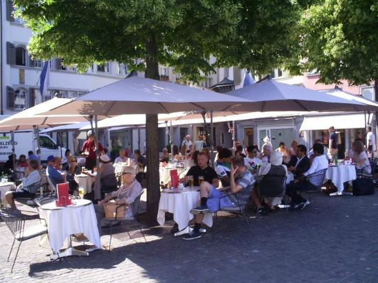 Storchen Zurich: Zum Storchen terrace cafe