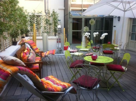 Hotel Alexandra: Terrasse :-)