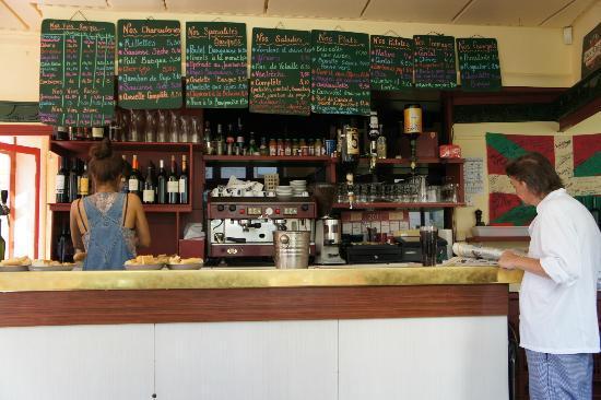 Chez Gladines Charonne: the menu/bar area