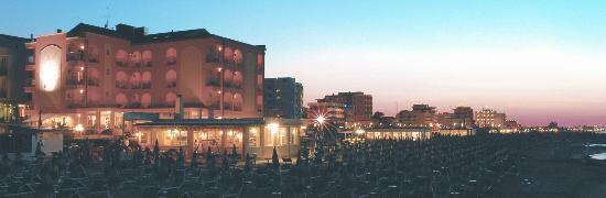 Hotel Daniel's: Panoramica notturna dalla spiaggia