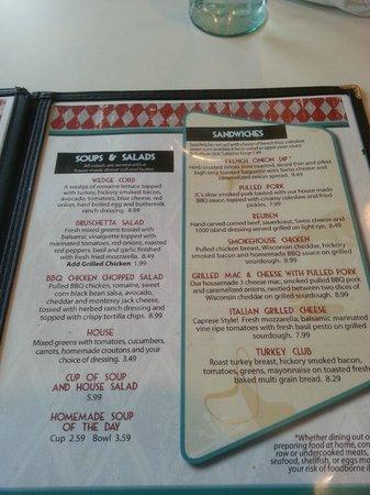 Broadway Diner : menu