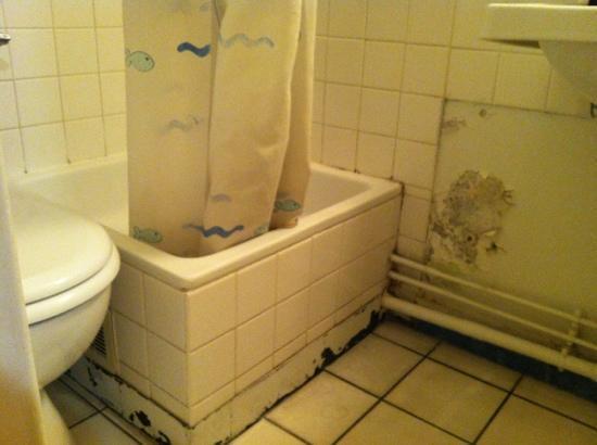 Les Gens de Mer: mouldy bathroom