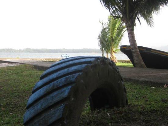 Hotel Villa Caribe : La petite plage juste à côté.  Vue de mon hamac.