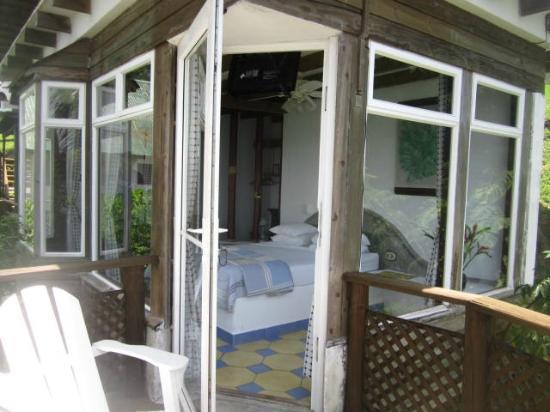 Hotel Villa Caribe : Notre chambre vue du balcon