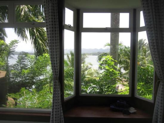 Hotel Villa Caribe : Vue de notre lit