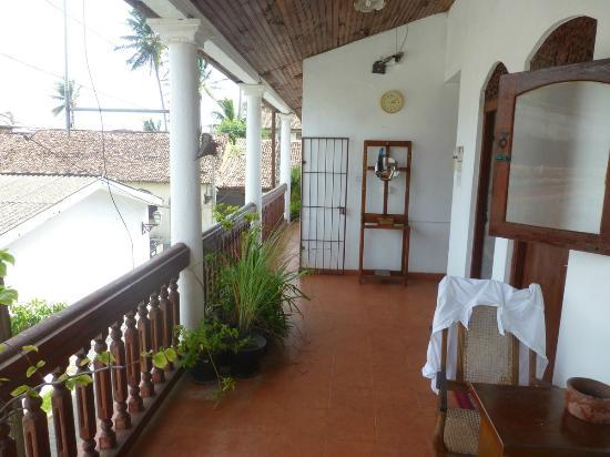 A view of the upper floor balcony at the Beach Haven Guest House
