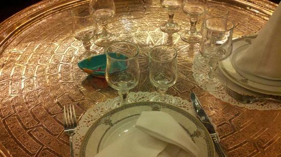 Restaurant Le Maroc : Wonderful Copper tray tables!!! Love them !