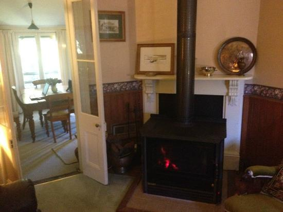 The Calico Duck B&B: Combustion Heater in Lounge Room