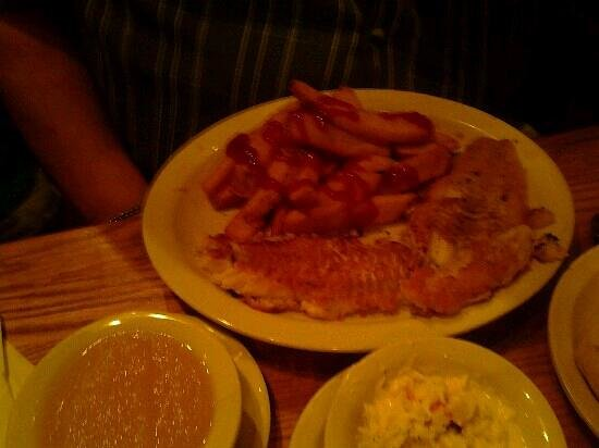 Cracker Barrel: haddock and steak fries
