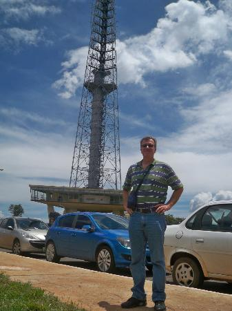 Torre de Televisão: Me in front of TV Tower where I took the pics