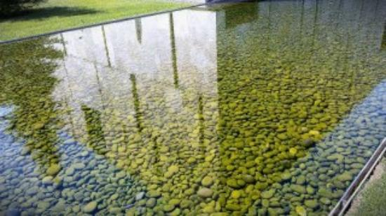 The Barnes Foundation: stone water feature