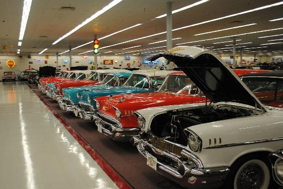 Muscle Car City Museum: Rows and rows of memories. All in pristine condition.