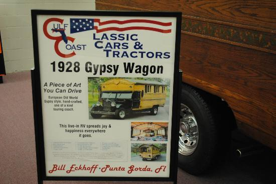 Muscle Car City Museum: 1928 Gypsy Wagon info.
