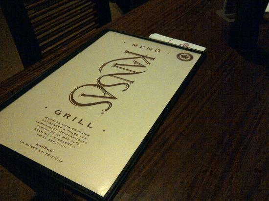 Kansas Grill : La carta