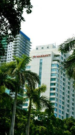 JW Marriott Miami: view from the street