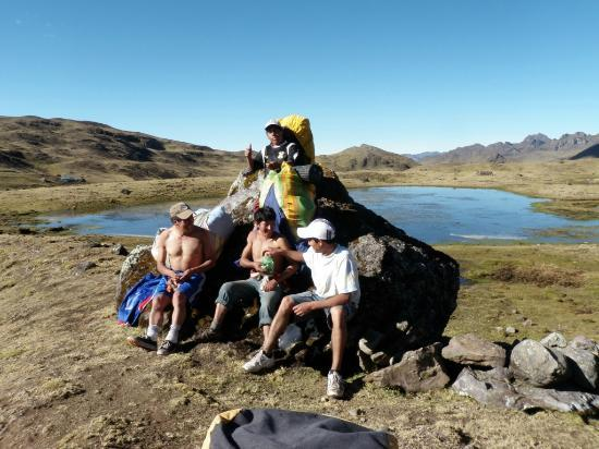 Private Tours Perú: The fantastic support crew which David had organised