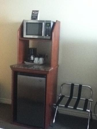 Holiday Inn Express Suites Gananoque: Microwave and fridge